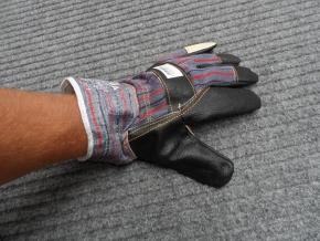 Rukavice kůže/textil