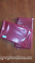 PE odpadový pytel červený - 700 x 1100 mm, 100 my