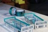 Zelená polyester/silikonová maskovací páska - 25 mm / 66 m, tesa® 50600