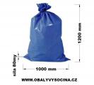 PE odpadový pytel modrý - 1000 x 1200 mm, 80 my