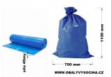 PE odpadový pytel modrý - 700 x 1100 mm, 40 my
