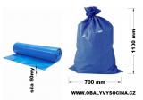 PE odpadový pytel modrý - 700 x 1100 mm, 50 my