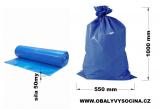 PE odpadový pytel modrý - 550 x 1000 mm, 50 my