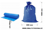 PE odpadový pytel modrý - 800 x 1000 mm, 50 my