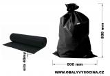 PE odpadový pytel černý - 600 x 800 mm, 40 my