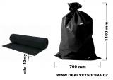 PE odpadový pytel černý - 700 x 1100 mm, 40 my