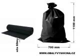 PE odpadový pytel černý - 700 x 1100 mm, 60 my