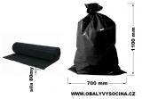PE odpadový pytel černý - 700 x 1100 mm, 80 my