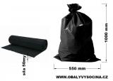 PE odpadový pytel černý - 550 x 1000 mm, 50 my