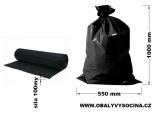 PE odpadový pytel černý - 550 x 1000 mm, 100 my