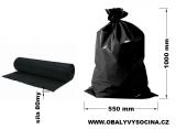 PE odpadový pytel černý - 550 x 1000 mm, 80 my