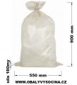 PE odpadový pytel recy průhledný - 550 x 900 mm/0,18