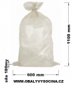 PE odpadový pytel recy průhledný - 600 x 1100 mm / 0,18