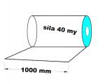 PE fólie rovná - 1000mm síla 0,04mm cena za 1 kg (min.odběr 35 kg 1 role)