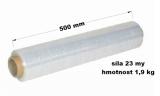 Stretch fólie ruční - 50cm / 23my / 1,9kg, návin 115 m