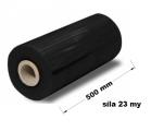 Stretch fólie strojní - 50 cm / 23 my černá
