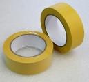 PVC páska - 38mm / 33 m - žlutá vroubkovaná