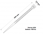 Páska stahovací 3.6x200 100 ks bílá