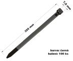 Páska stahovací 7.6x350 100 ks černá