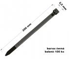 Páska stahovací 2.5x200 100 ks černá
