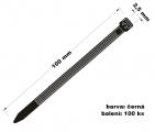 Páska stahovací 2.5x100 100 ks černá