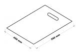 Taška s průhmatem bílá - 45 x 55 cm