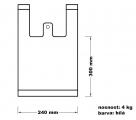 Taška mikrotenová (4 kg) - bílá