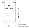 Taška mikrotenová (4 kg) - modrobílá