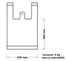Taška mikrotenová (4 kg) - zelenobílá