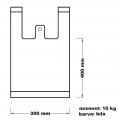 Taška mikrotenová (10 kg) - bílá CZ