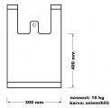 Taška mikrotenová (10 kg) - zelenobílá