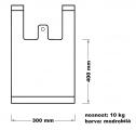 Taška mikrotenová (10 kg) - modrobílá