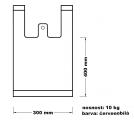 Taška mikrotenová (10 kg) - červenobílá