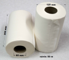 Papírové utěrky 50 m bily 2vr