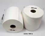 Papírové utěrky 100 m bily 2vr