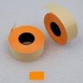 Etiketovací kotoučky - 25x16 oranžový