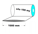 Hadice 1.A kvalita - 1000 mm / 100 my - cena za 1kg (min.odb.30kg)