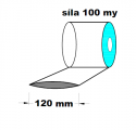 Hadice 1.A kvalita - 120 mm /100 my- cena za1kg (min.odb.10kg)