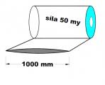 Hadice z recyklátu - 1000 mm / 50 my - cena za 1kg (min.odb.25kg)