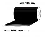 Hadice z recyklátu - 1000 mm / 100 my, černá - cena za 1kg (min.odb.25kg)