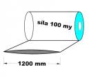 Hadice z recyklátu - 1200 mm / 100 my - cena za 1kg (min.odb.25kg)