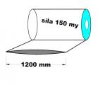 Hadice z recyklátu - 1200 mm / 150 my - cena za 1kg (min.odb.30kg)
