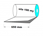 PE polohadice - 650mm / 0,1 kvalita 1.A-cena za 1kg (min.odb.30kg)