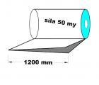 PE polohadice - 1200 mm / 0,05 mm, recyklát-cena za 1kg (min.odb.25kg)
