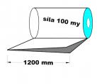 PE polohadice - 1200mm / 0,1mm recyklát-cena za 1kg (min.odb. 25kg)