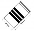 Rychlouzavírací sáčky s popisovacím pruhem 8x12 cm 100 ks