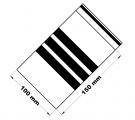 Rychlouzavírací sáčky s popisovacím pruhem 10x15 cm 100 ks