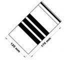 Rychlouzavírací sáčky s popisovacím pruhem 12x17 cm 100 ks