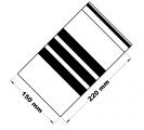Rychlouzavírací sáčky s popisovacím pruhem 15x22 cm 100 ks