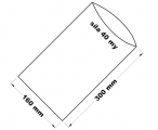PE sáček průhledný - 160 x 300 mm /0,04
